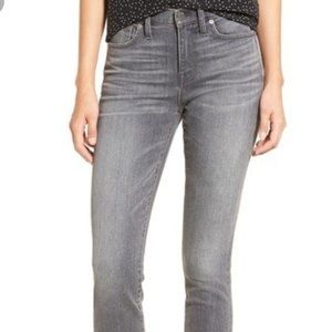 Madewell High Riser Grey Skinny Jeans